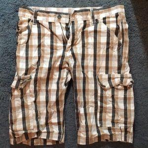 Men's Levi's Plaid Cargo Shorts Waist 30